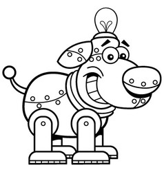 Cartoon mechanical dog vector image