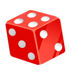 casino dice playing cubes with dots number vector image