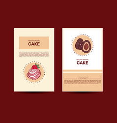 chocolate cake cupcakes and candies vector image