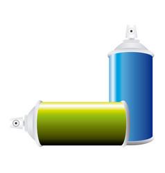 Colorful set aerosol spray bottle vector