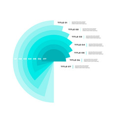 Concentric infographics diagram step by step in a vector