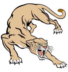 Cougar logo mascot vector
