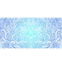 doodle waves abstract psychedelic background vector image