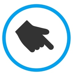 Down Right Index Finger Icon vector image