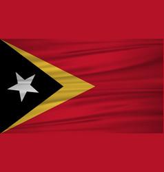 east timor flag flag of east timor blowig in the vector image