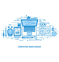 Engineering and architecture drawing construction vector