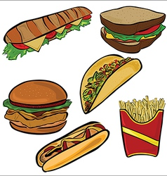 Fast Food set A vector
