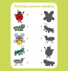 Find correct shadow educational game for vector