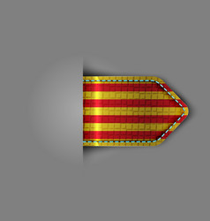 flag of catalonia in the form of a glossy textured vector image