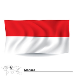 Flag of Monaco vector