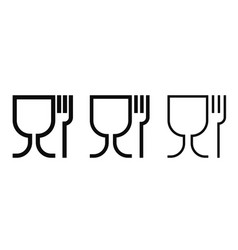 Food grade icons set safe material wine vector