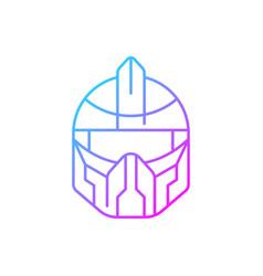 Futuristic helmet gradient linear icon vector
