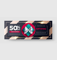 gift voucher restaurant discount coupon vector image