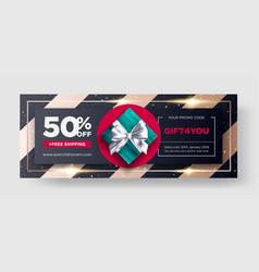 gift voucher restaurant discount coupon vector image
