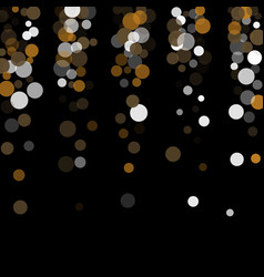 gold white and gray confetti transparent dots vector image