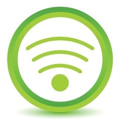 Green wifi icon vector