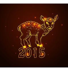 Hand drawn new year card with sheep vector