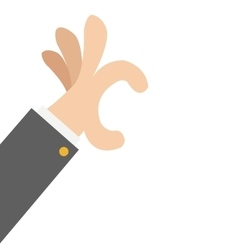 hand hold gesture icon vector image