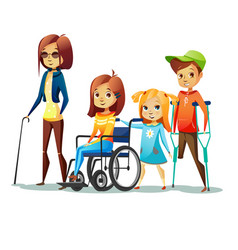 Handicapped children of vector