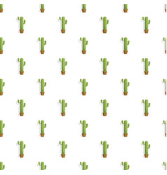home pot cactus pattern seamless vector image