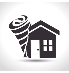 house insurance house tornado protection design vector image