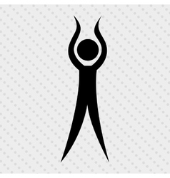 human figure design vector image