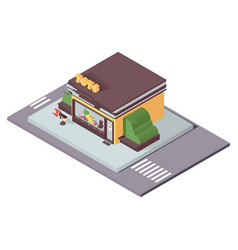isolated on white kids toys store in isometric vector image