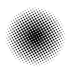 item halftone circle on a white background vector image
