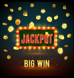 Jackpot big win casino fame backdrop vector