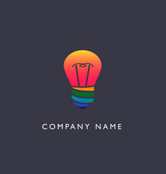 lightwire logo vector image