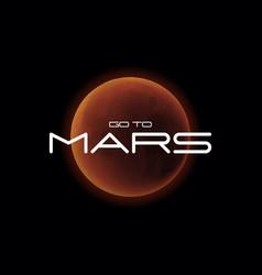 Mars planet realistic vector