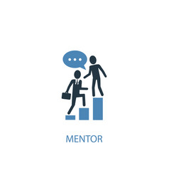 mentor concept 2 colored icon simple blue element vector image