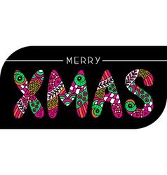 MERRY XMAS CARD vector