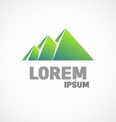Mountains or pyramids logo template Fundamental vector