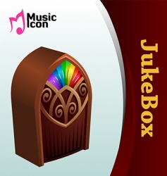 Music jukebox vector