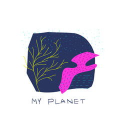 My planet space star nature vector