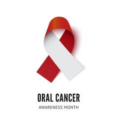 Oral cancer awareness ribbon vector