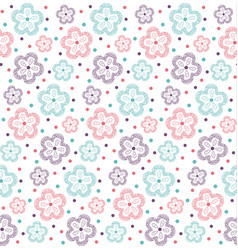 Pattern flower ornate3 vector