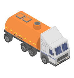 Petrol truck icon isometric style vector