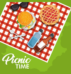 Picnic time design vector
