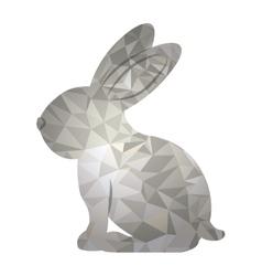 Polygonal rabbit animal design vector