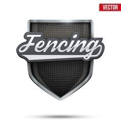 Premium symbol of Fencing label vector image