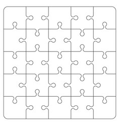 Puzzle piece on white background board game vector