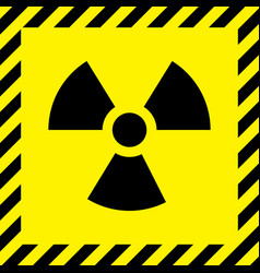 Radioactive cityscape sign vector