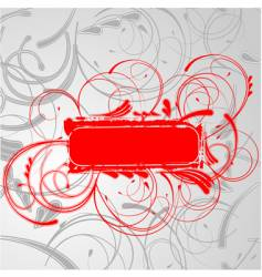 red curves banner vector image