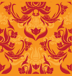 romantic rococo seamless pattern vector image