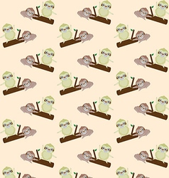 seamless pattern with cute cartoon sloth vector image