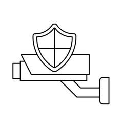 shield security system flat icon vector image