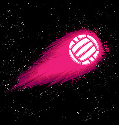 space comet waterpolo background vector image