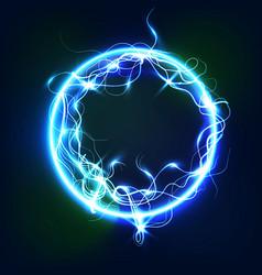 sphere lightning light background multicolored vector image